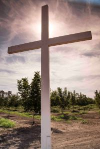 The old cross over the orchard