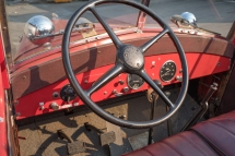 I'm sure this steering wheel has guided this truck to many an emergency!